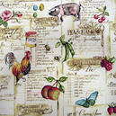 Cookbook chintz, gardintyg